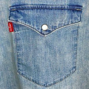 Levi's Pearl Snap Long Sleeve Chambray Shirt 3X